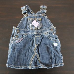 Bule Demin Pocketed Overall Dress 6/9M